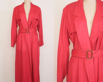 Red trench coat | Etsy