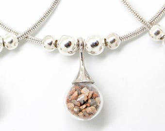 CUSTOM YOUR SAND Beach Sand Necklace   Vacation Souvenir Jewelry   Beachlife Beach Life   Resort Wear   Custom Sand Jewelry   Your Beach