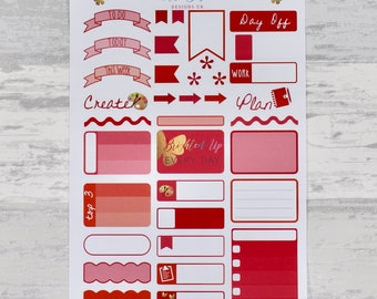 RED Weekly Sampler Set - Stickers for Planners!
