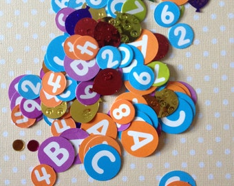 Alphabet and Number Party Confetti