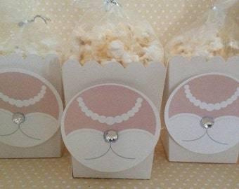 Bridal Shower Popcorn or Favor Boxes - Set of 10