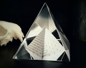 Clear Quartz Egyptian Pyramid Stone