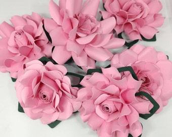 Paper flower named Curly  1 bag of 6