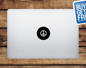 Peace - Macbook Apple Decal Sticker / Laptop Decal / Apple Logo Cover / 2 for 1 price