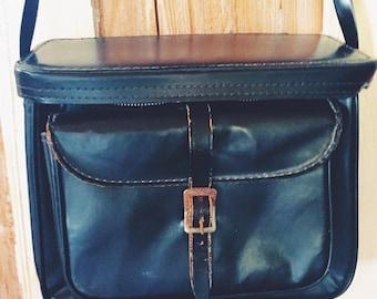 Leather Camera Case Vintage 60's Black