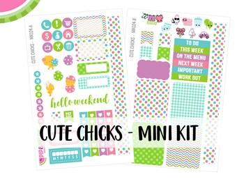 a La Carte   Cute Chicks Mini Kit   Spring, Easter, Chicks   Erin Condren and Mambi    MK024