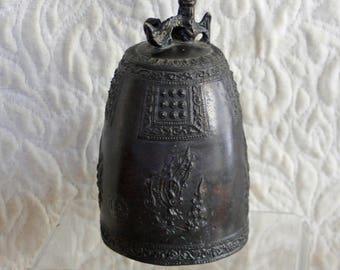 Antique Japanese Meiji Period Bronze bell gong