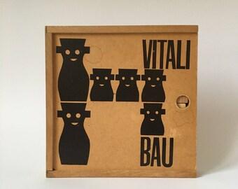 Antonio Vitali Bau wooden Building Bricks and Figures Toy - Perfect Gift - Very rare