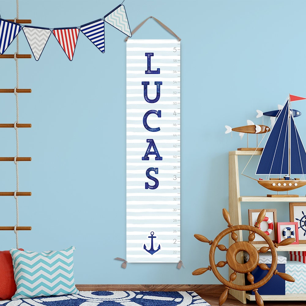 Nautical growth chart canvas personalized growth chart boy nautical growth chart canvas personalized growth chart boy growth chart nautical nursery decor nautical boys room gc3017s nvjuhfo Image collections