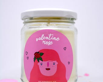 Valentine Rose Candle / Vegan / Hand poured / Scented / Soy Wax 150ML