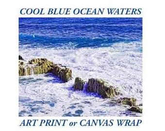 Beach Wall Art Print Coastal Photography Large Wall Art Ocean Water Waves Ocean Print Ocean Water Ocean Waves Wall Art Large Poster
