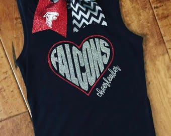 Flacons Cheer Tank w/ matching bow