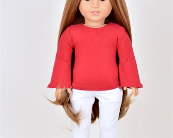 Bell Top 18 inch doll clothes Red