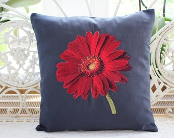 Pillowcase Gerbera embroidery