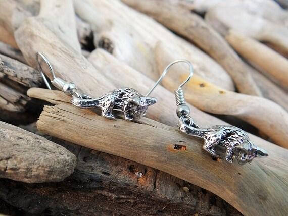 Gorgeous Possum Pewter Earrings  Australia Australian Animal Australiana Earring Ear Ring Rings Opossum Ringtail