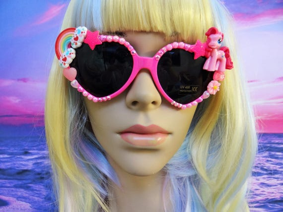 UNICORN My Little Pony * Pinkie Pie * Heart Shaped Sunglasses Sun Glasses Sunnies Rainbow Wayfarers Aviators Mermaid Kawaii Disney A044