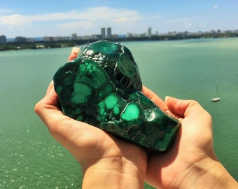 Malachite Crystal Stone w/ Reiki / Healing Crystals/Free Shipping