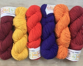 CoBaSi Plus 13.25+1.59ea to Ship +5 Free CoBaSi Patterns Shown - 177yds 100g Cotton Bamboo Silk Nylon Worsted Weight Yarn. MSRP 15.95