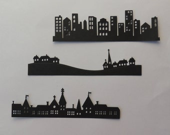 City/Village Strip Die Cuts