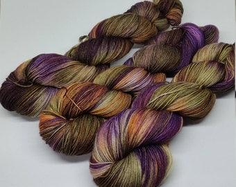 Gypsy Queen - Platinum Sock Yarn - Superwash Merino + Nylon - 75/25 - Ready to ship