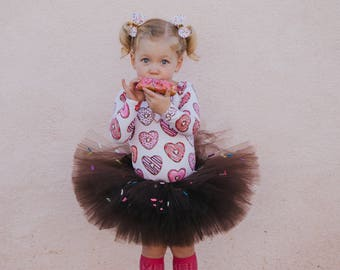 Donut tutu, choose your color tutu, cupcake tutu, chocolate sprinkle donut tutu, first birthday tutu, donut party, baby shower gift