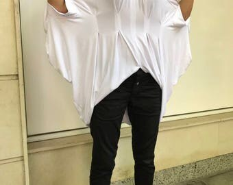 New Collection Blouse,Tunic Top, Sheer Top, Sexy White Top, Wedding Blouse, Boho Chic Clothing, Bridal Top, Elegant Blouse, Maxi Tunic