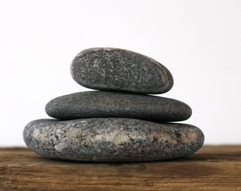 Stone Cairn - Abstract Art - Small Minimalist Sculpture - Zen Garden - Rock Balance