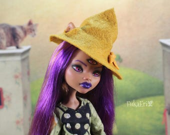 Monster High Custom Repaint Art doll OOAK Clawdeen Wolf/Witch/Halloween