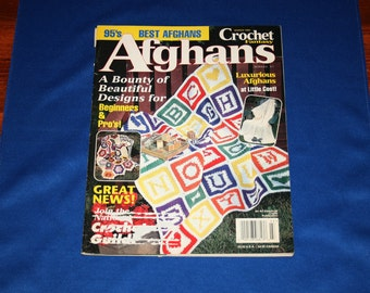 Vintage Afghans Pattern Magazine Crochet Fantasy Afghan Patterns 19 Crocheting Projects and Instructions March 1995 Crafting Magazines