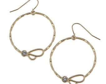 Bridal and Wedding Gold Hoop Earrings / Bridal Jewelry / Bridesmaid Gift / Wedding Accessories / Bridal Earrings / Gift for Bride