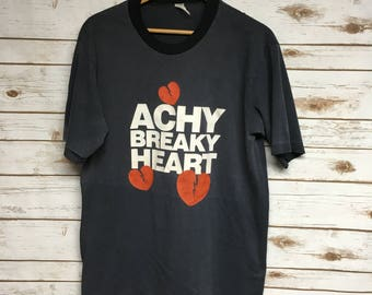 Vintage 90's Billy Ray Cyrus Achy Breaky Heart tshirt super soft paper thin Country music tshirt Country western concert tee - Large