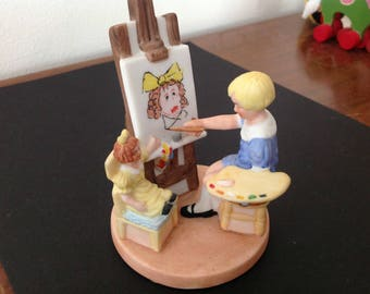 Vintage Norman Rockwell's The Artist's Daughter Figurine 1988 Museum Collections Picture Perfect