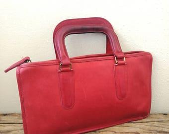 Vintage 1970s Bonnie Cashin Red Satchel bag briefcase