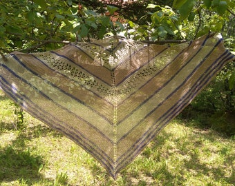 Linen handmade shawl