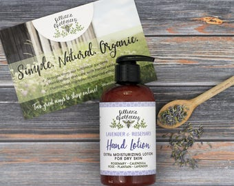 Hand Lotion- Body Lotion- Natural Lotion- Moisturizing Herbal Hand and Body Lotion- Organic Ingredients- Dry Skin- Dry Hands