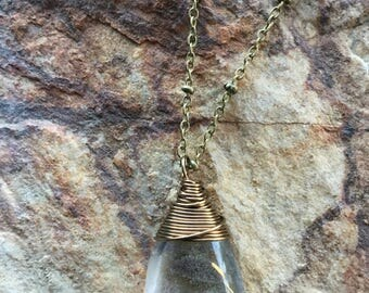 Lodolite Quartz necklace, scenic Quartz, garden Quartz,
