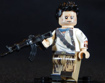 Nathan Drake Inspired Minifigure Uncharted (LEGO Compatible)