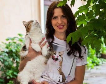 Pet shirt / Cat lover gift / Pet lovers / Pet portrait / Pet lovers gift / Dog lover gift / Pet lover / Custom pet portrait