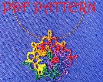 Crochet Necklace Fiesta PDF Pattern