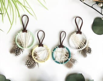 Gender Neutral Baby Shower Favors, Green Baby Shower Decor, Green Nursery Decor, Baby Dream Catcher, Boho Birthday Favor, Boho Wedding Favor