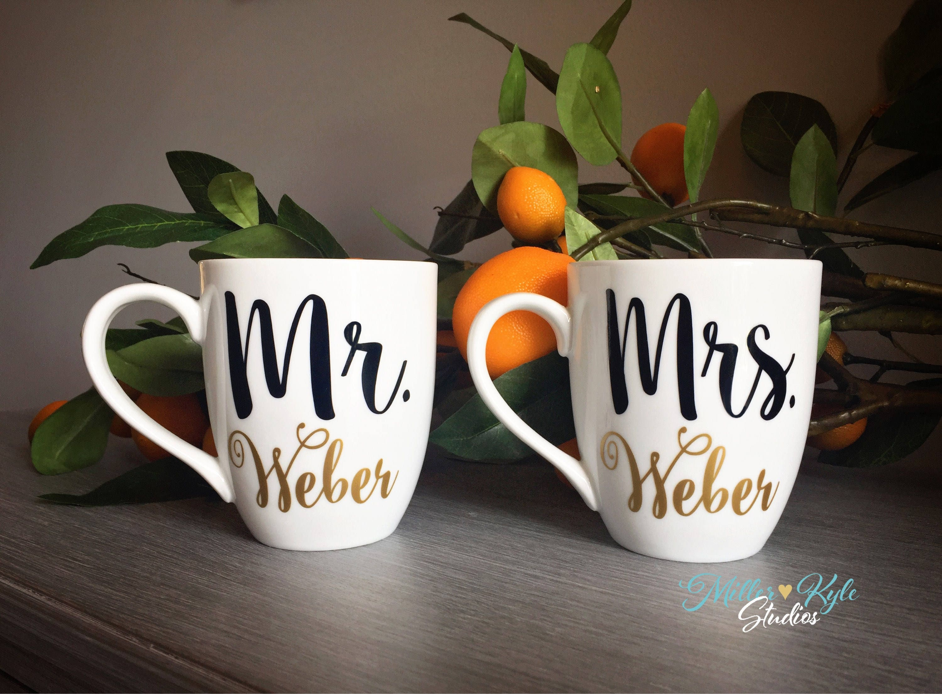 Wedding Gift For A Couple: Wedding Gift / Mr & Mrs Mugs / Wedding Gift For Couple