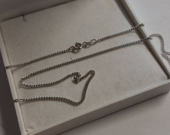 45 cm / 1.7 mm curb chain 925 Silver necklace HK316