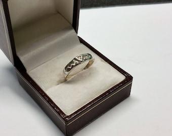 17.5 mm ring 925 Silver Crystal nostalgic SR875