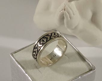 17.9 mm Ring 925 silver Mexico vintage rar SR905