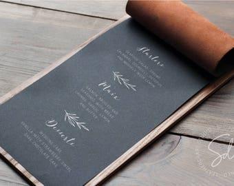 Wooden Menu Holders, Wine Menu, Wooden Menu, Restaurant Menu Cover, Menu Cover, Menu Folder, Menu Book, Menu Holder, Menu Board,Leather Menu