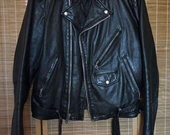 Vintage Berman's Leather Motorcycle Jacket