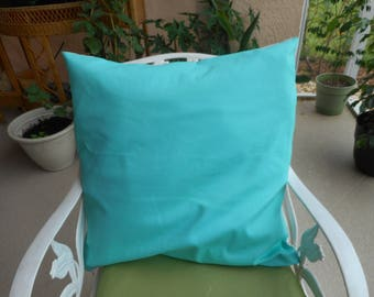 """Turquoise and White Cotton Throw Pillows. Qty-2  size -22x22"""" 25.00"""
