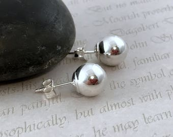 Sterling Silver Stud Earrings Silver Earrings Silver Post Earrings Sterling Earrings Simple Studs Small Round Posts Everyday Earrings
