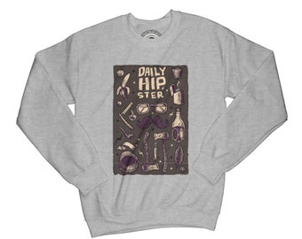 Hipster sweatshirt adventure sweatshirt camping sweatshirt hiking sweatshirt mountains sweatshirt mustache sweatshirt urban sweatshirt  AP42