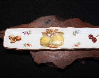Bone China Hand Painted Made in England Hammerday & Co Long Dish